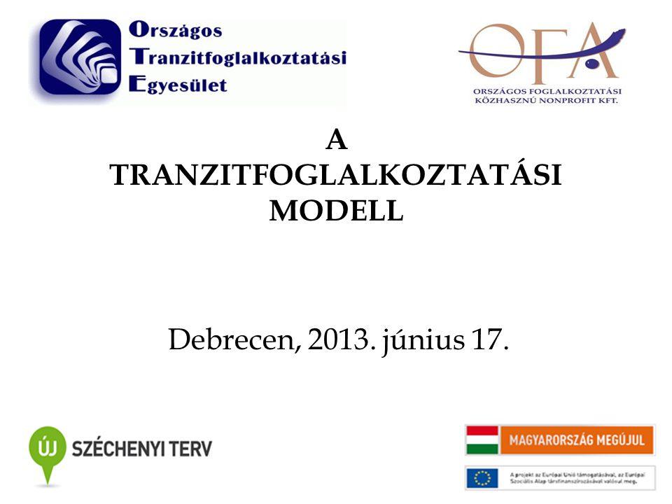 A TRANZITFOGLALKOZTATÁSI MODELL Debrecen, 2013. június 17.