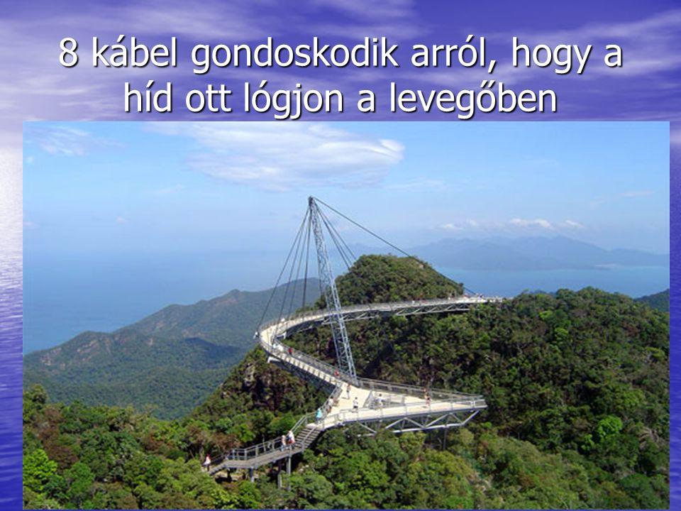 8 kábel gondoskodik arról, hogy a híd ott lógjon a levegőben