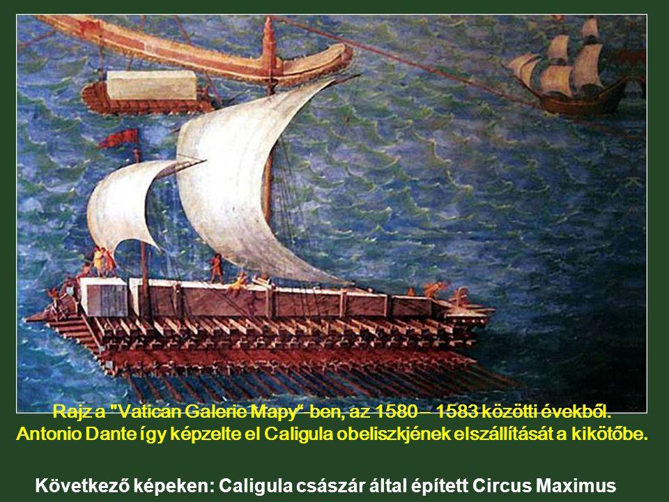 Az obeliszket 37-ben szállították át az egyiptomi Heliopolis városából, mint Caligula császár hadi trófeáját.