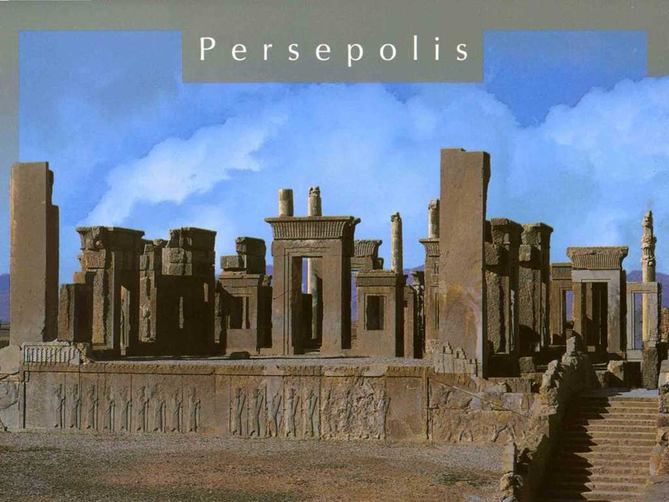 PERSÉPOLIS Persepolis volt a fővárosa az Achaemenid Birodalomnak (kb. 550-330 ). Persepolis 70 km- re északkeletre fekszik, a modern Shiraz várostól a