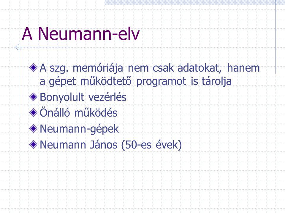 A Neumann-elv A szg.