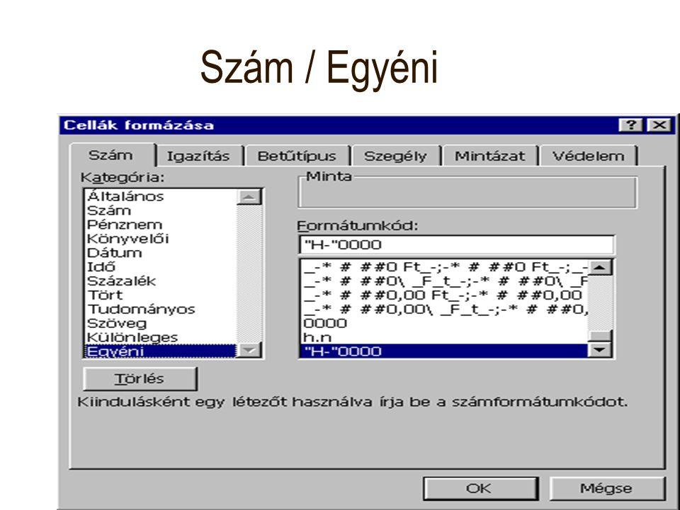Szám / Egyéni