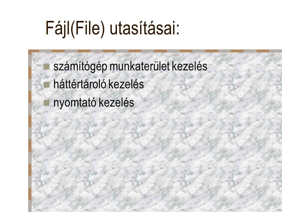 Nézet(View) utasításai: dokumentum megjelenítése pl.
