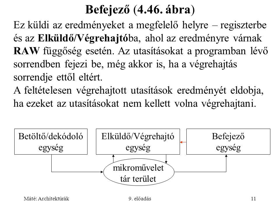 Máté: Architektúrák9. előadás11 Befejező (4.46.