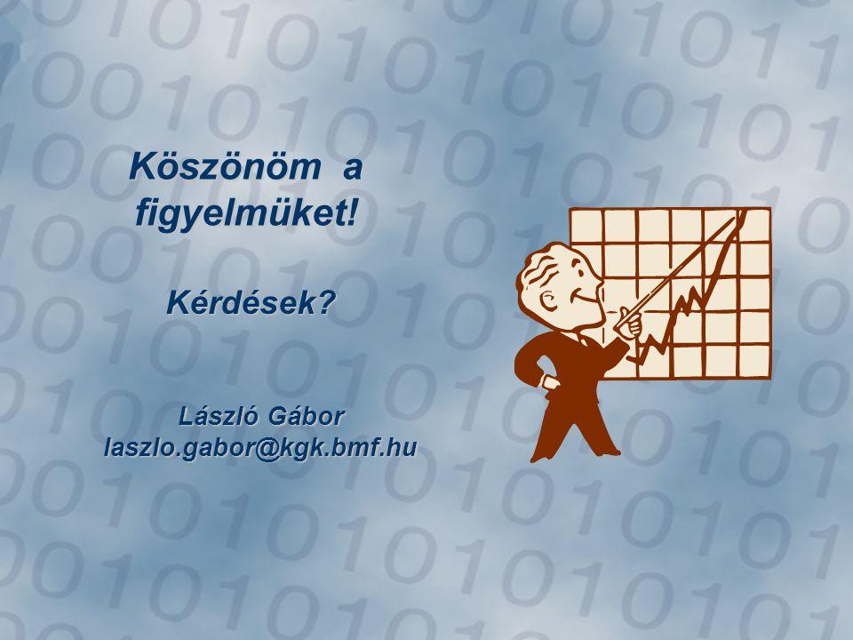 Köszönöm a figyelmüket! Kérdések László Gábor laszlo.gabor@kgk.bmf.hu