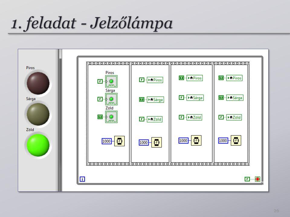 1. feladat - Jelzőlámpa 26