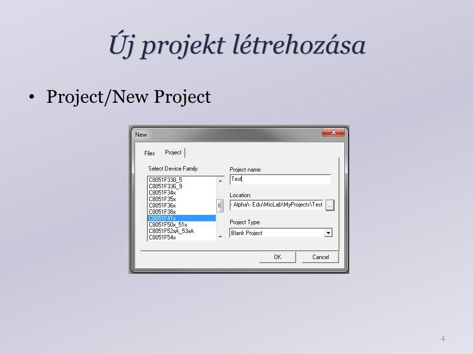 Új projekt létrehozása Project/New Project 4