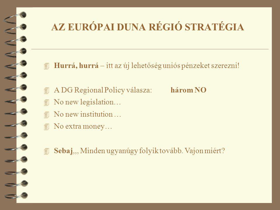 4 Hurrá, hurrá – itt az új lehetőség uniós pénzeket szerezni! 4 A DG Regional Policy válasza: három NO 4 No new legislation… 4 No new institution … 4