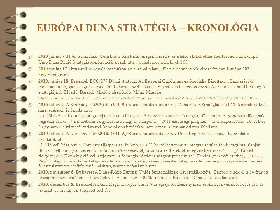 4 2010 június 9-11-én a romániai Constanta-ban került megrendezésre az utolsó stakeholder konferencia az Európai Unió Duna Régió Stratégia konferenciá