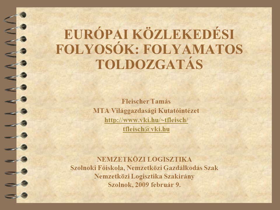 EURÓPAI KÖZLEKEDÉSI FOLYOSÓK: FOLYAMATOS TOLDOZGATÁS Fleischer Tamás MTA Világgazdasági Kutatóintézet http://www.vki.hu/~tfleisch/ tfleisch@vki.hu NEM