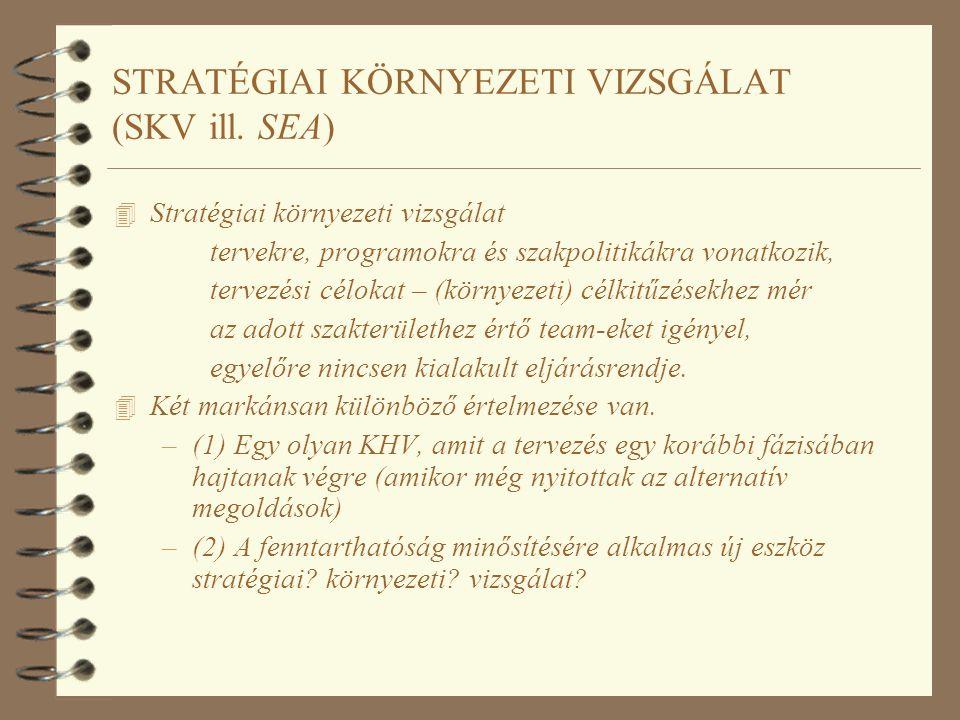 STRATÉGIAI KÖRNYEZETI VIZSGÁLAT (SKV ill.