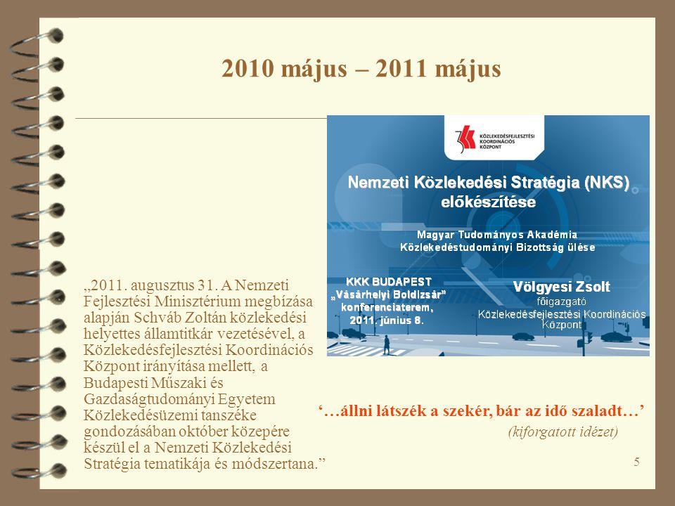"""…HAZAI ESEMÉNYEK EGY AKTUALITÁSBÓL KIBONTVA KÖZLEKEDÉSFEJLESZTÉS MAGYARORSZÁGON – AKTUALITÁSOK """"A közlekedés helye, szerepe, feladata – a kapcsolódó ágazatok elvárásai Konferencia a MMK Közlekedési Tagozata szervezésében Balatonföldvár, 2012 május 15-17."""