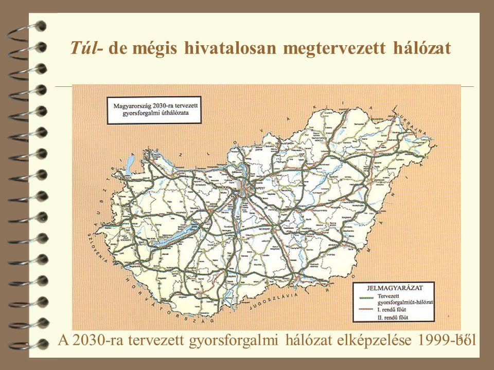 51 A 2030-ra tervezett gyorsforgalmi hálózat elképzelése 1999-ből Túl- de mégis hivatalosan megtervezett hálózat