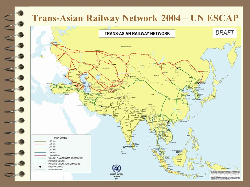 21 Trans-Asian Railway Network 2004 – UN ESCAP