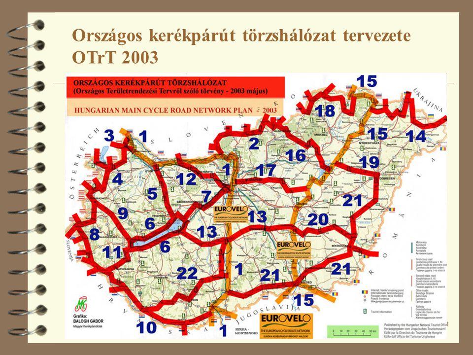 50 Országos kerékpárút törzshálózat tervezete OTrT 2003