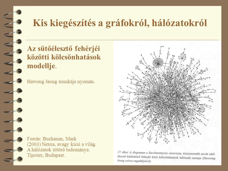 48 Az sütőélesztő fehérjéi közötti kölcsönhatások modellje. Hawong Jeong munkája nyomán. Forrás: Buchanan, Mark (2003) Nexus, avagy kicsi a világ. A h