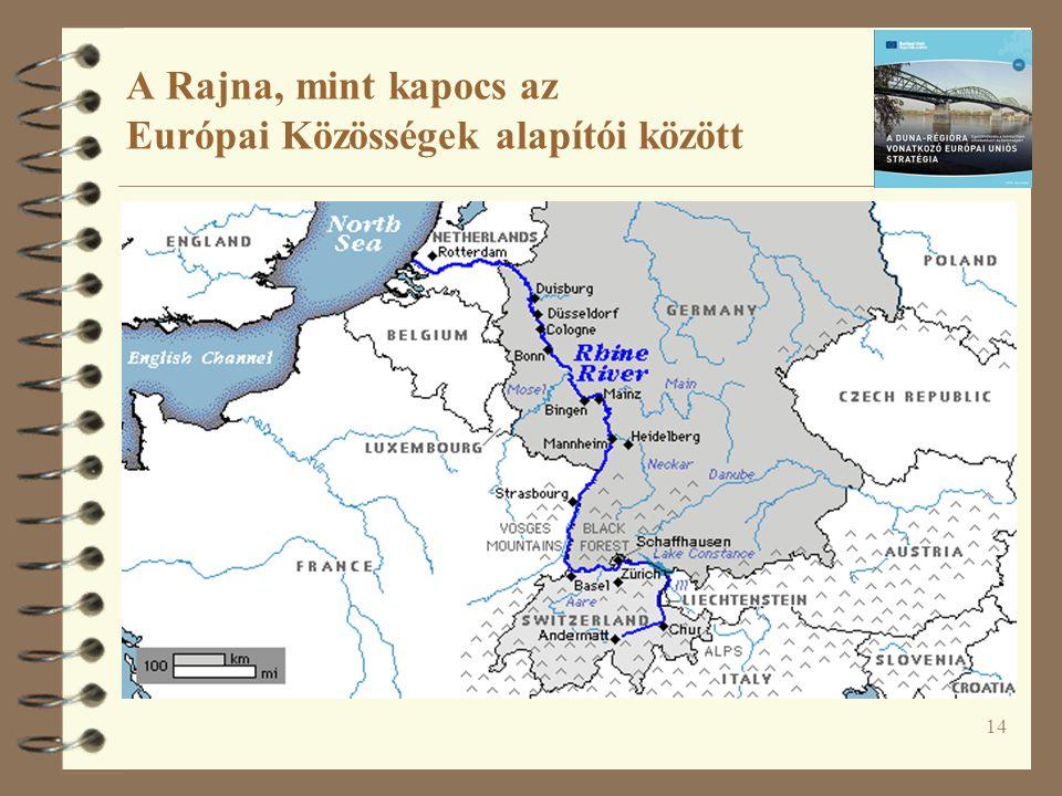 14 A Rajna, mint kapocs az Európai Közösségek alapítói között