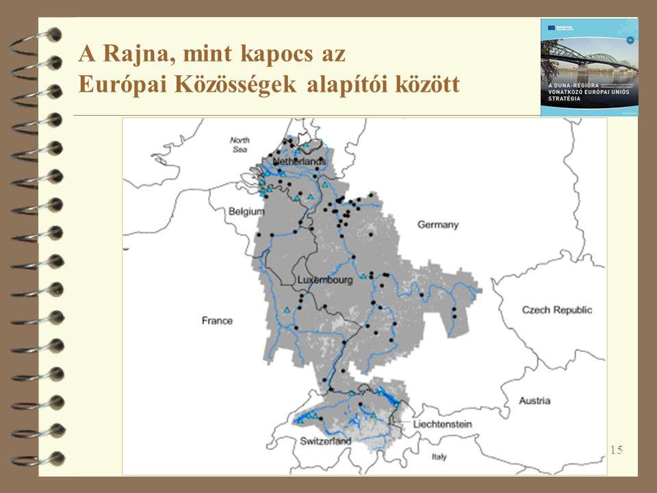 15 A Rajna, mint kapocs az Európai Közösségek alapítói között