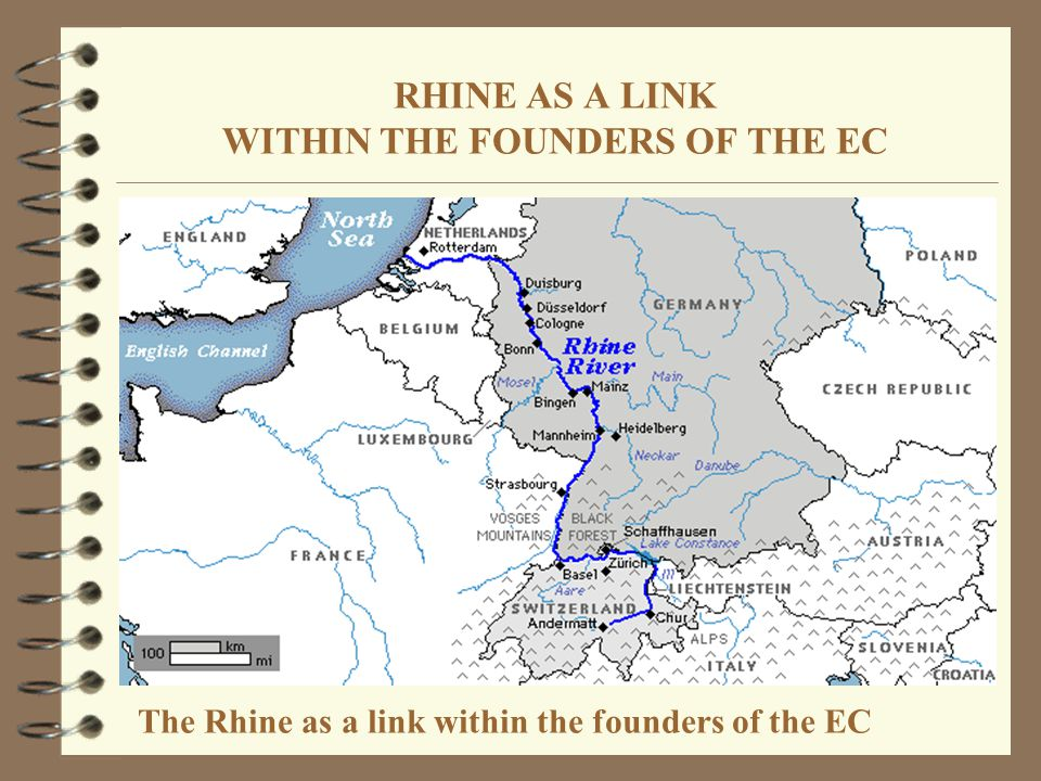 RHINE AS A LINK WITHIN THE FOUNDERS OF THE EC The Rhine as a link within the founders of the EC