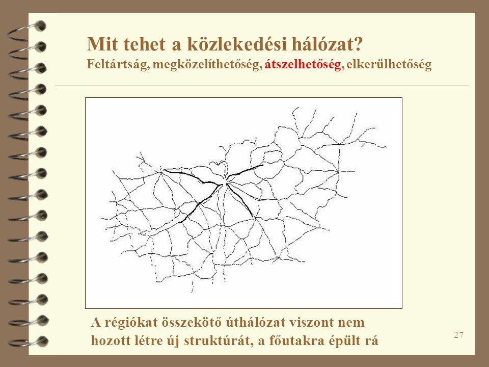 27 Mit tehet a közlekedési hálózat.