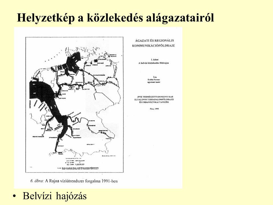 Helyzetkép a közlekedés alágazatairól Belvízi hajózás