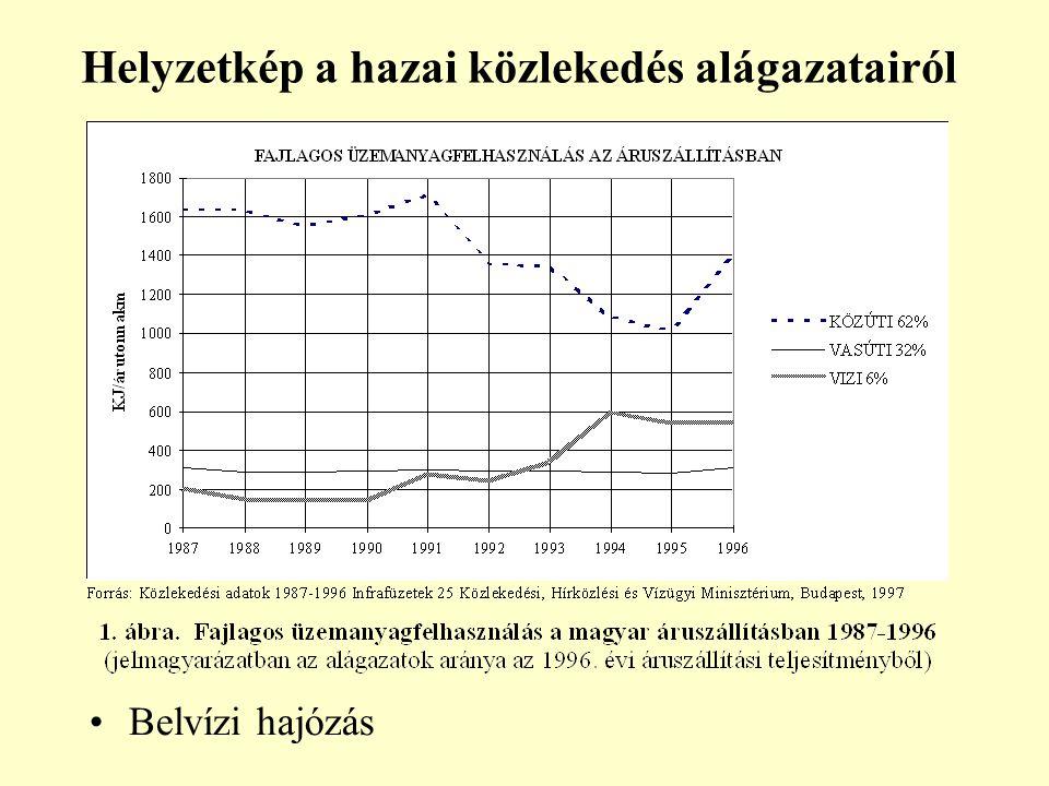 Helyzetkép a hazai közlekedés alágazatairól Belvízi hajózás