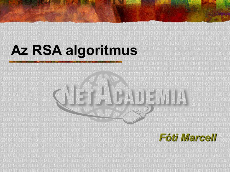 Az RSA algoritmus Fóti Marcell
