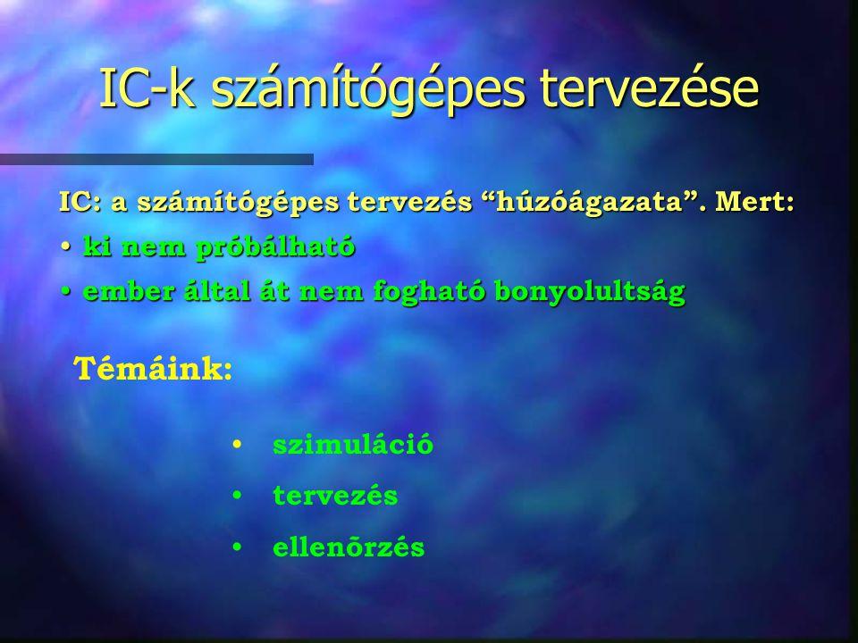 IC-k számítógépes tervezése IC: a számítógépes tervezés húzóágazata .