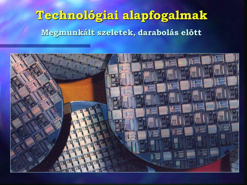 Technológiai alapfogalmak Megmunkált szeletek, darabolás elõtt