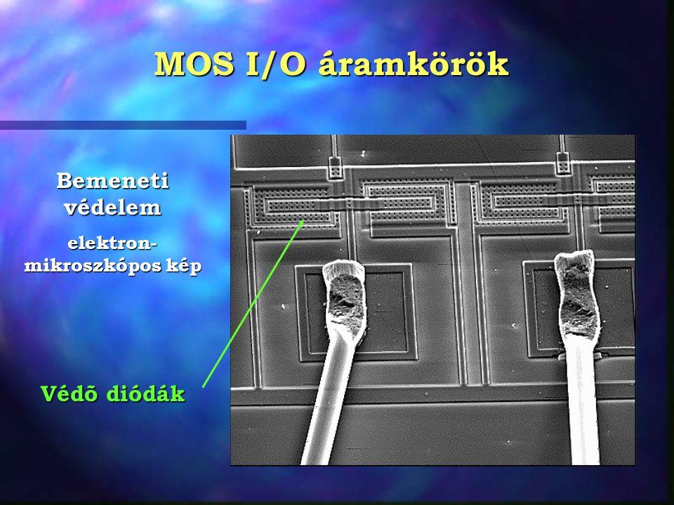 MOS I/O áramkörök Bemeneti védelem elektron- mikroszkópos kép Védõ diódák