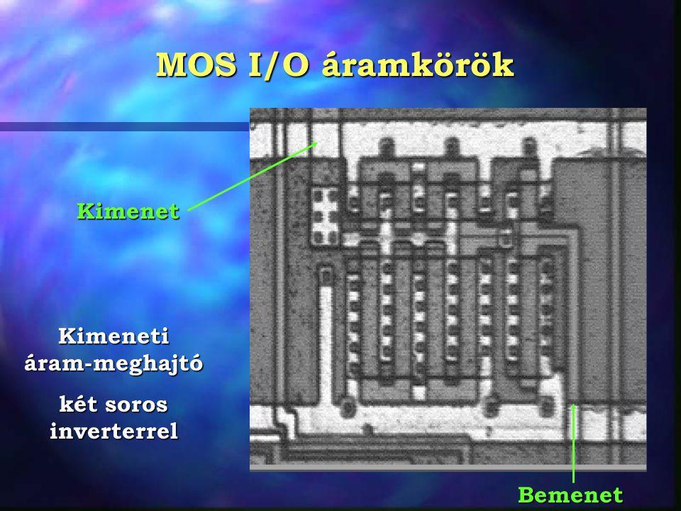 MOS I/O áramkörök Kimeneti áram-meghajtó két soros inverterrel Bemenet Kimenet