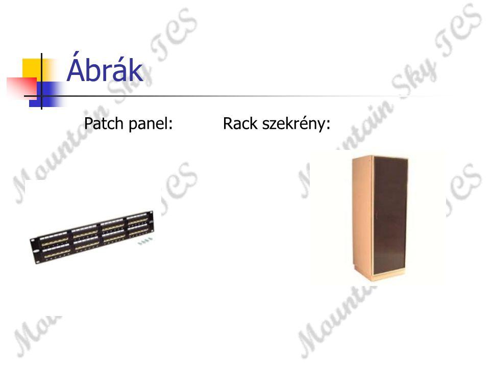 Ábrák Patch panel:Rack szekrény:
