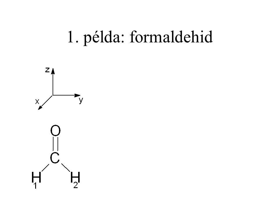 1. példa: formaldehid