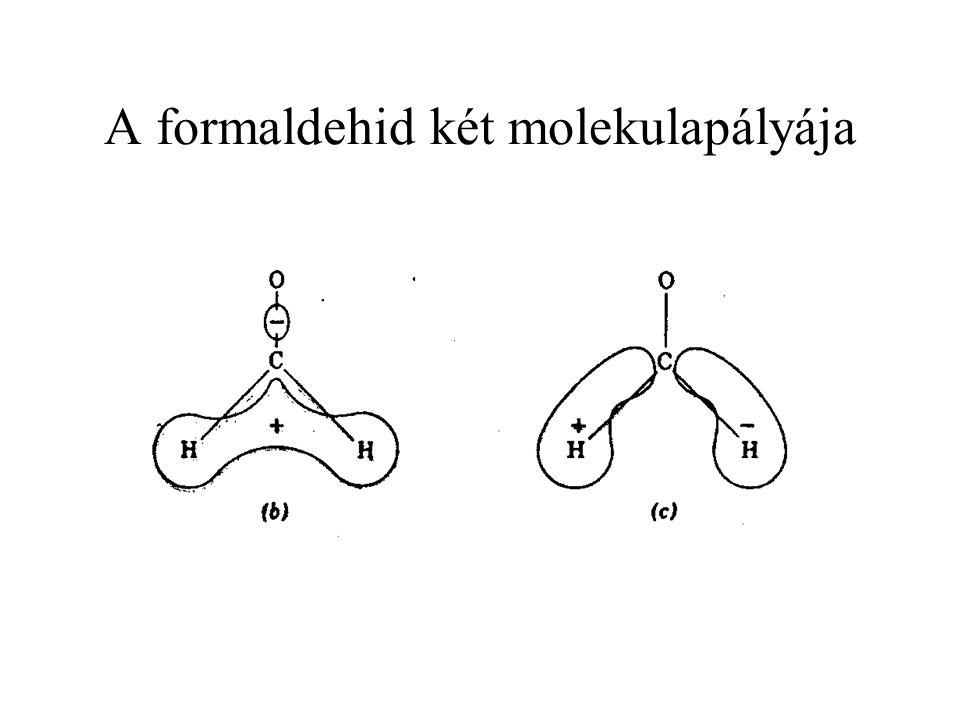 A formaldehid két molekulapályája