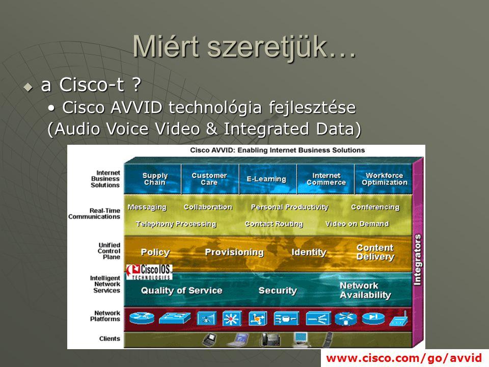 Miért szeretjük…  a Cisco-t .