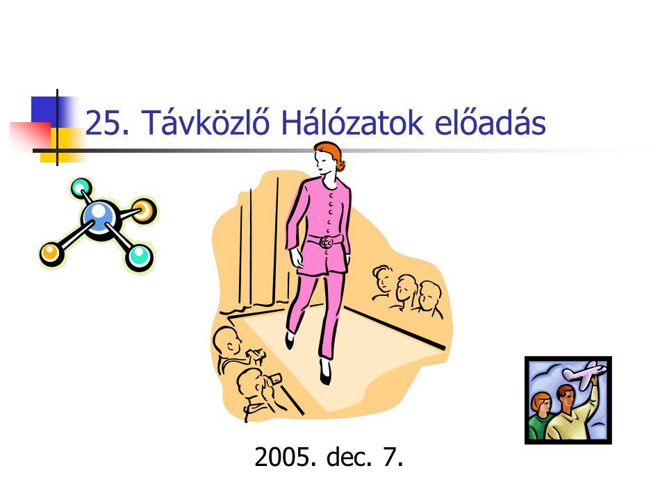 25. Távközlő Hálózatok előadás 2005. dec. 7.