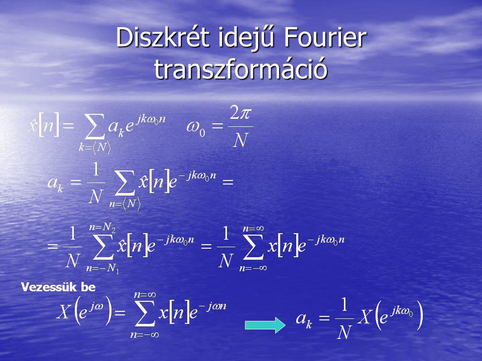 Diszkrét idejű Fourier transzformáció Vezessük be
