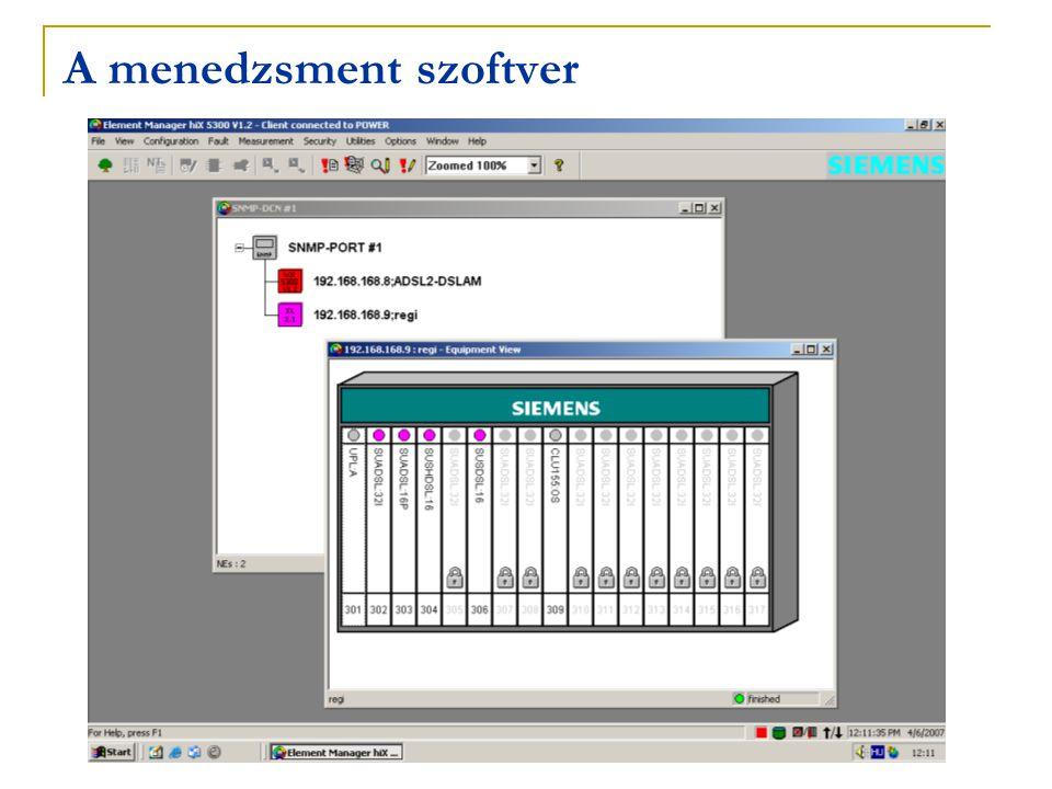 A menedzsment szoftver