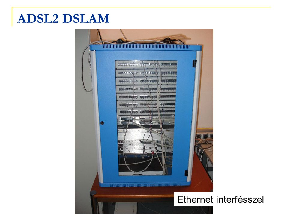 ADSL2 DSLAM Ethernet interfésszel