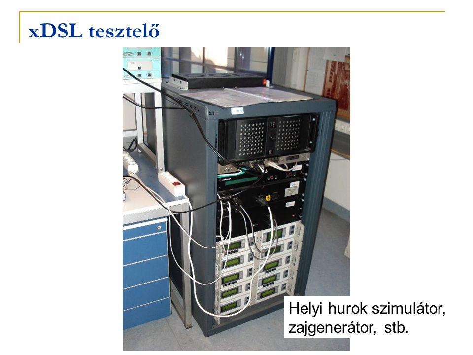 xDSL tesztelő Helyi hurok szimulátor, zajgenerátor, stb.