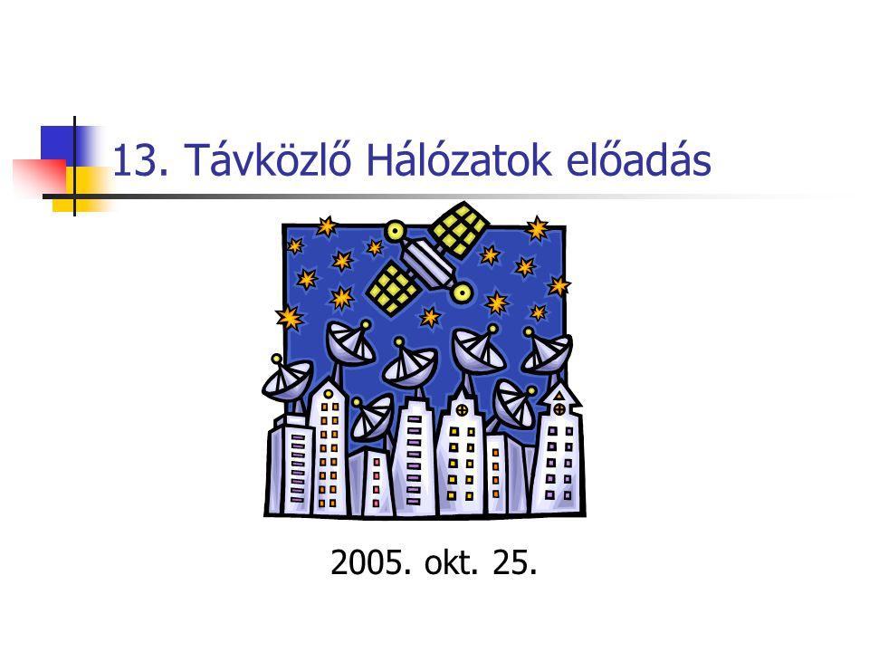 13. Távközlő Hálózatok előadás 2005. okt. 25.