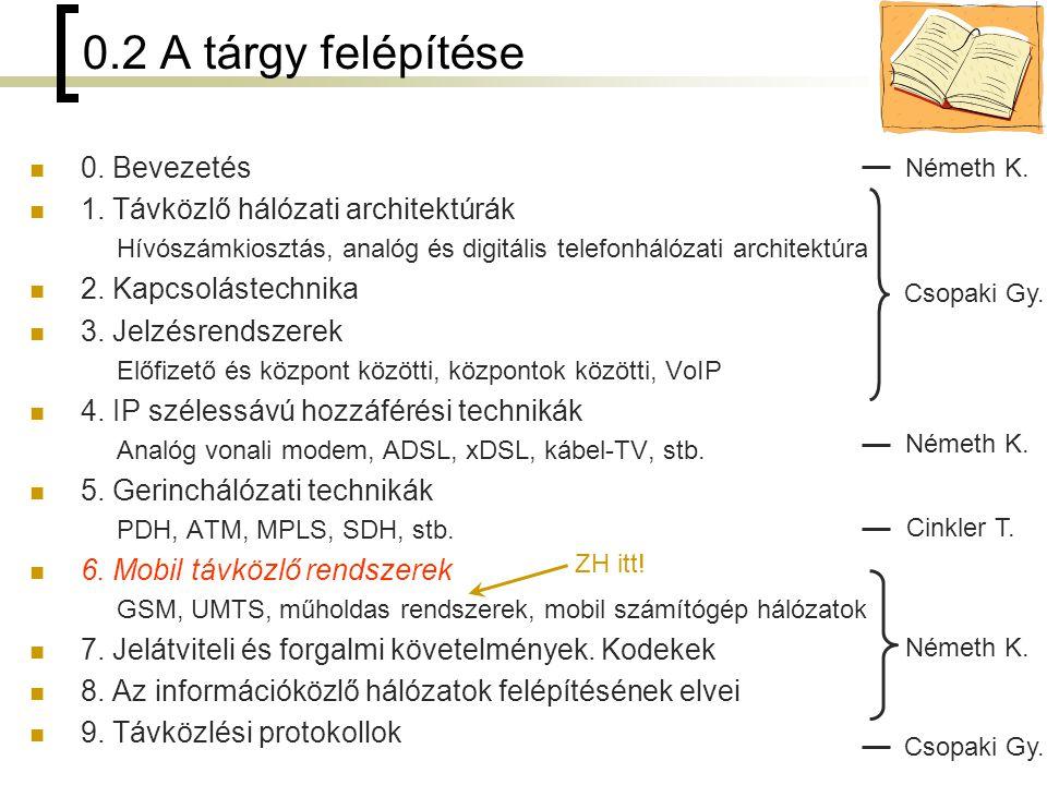 3 6.1 Áttekintés 6.2 GSM 6.3 UMTS 6.4 Műholdas távközlő rendszerek 6.5 Mobil számítógép-hálózatok 6 Mobil távközlő rendszerek