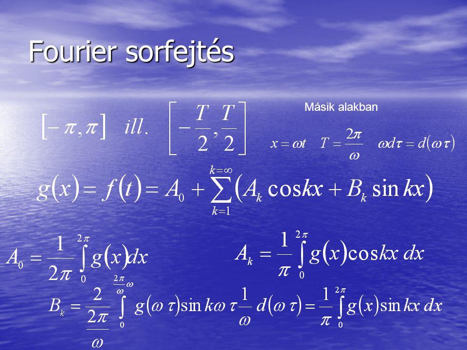 Fourier sorfejtés Másik alakban