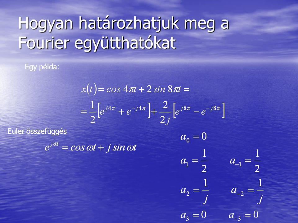 Hogyan határozhatjuk meg a Fourier együtthatókat Egy példa: Euler összefüggés