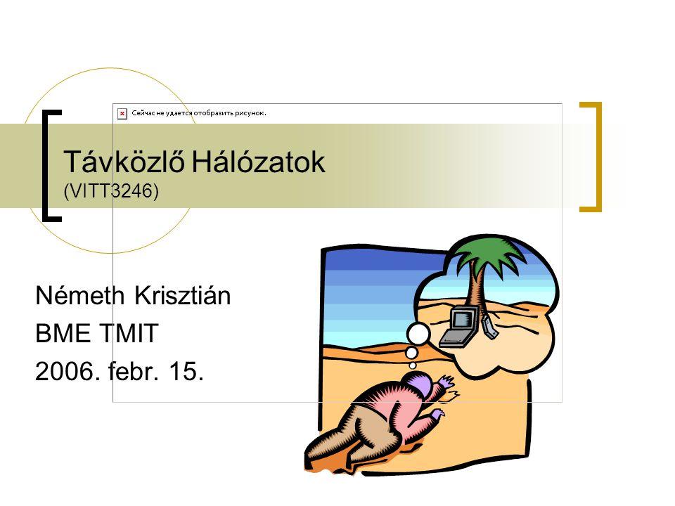 Távközlő Hálózatok (VITT3246) Németh Krisztián BME TMIT 2006. febr. 15.