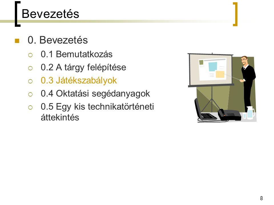 9 0.3 Játékszabályok ZH  11.hét: 2006. ápr.