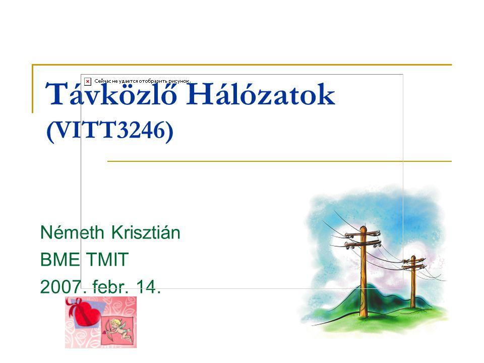 Távközlő Hálózatok (VITT3246) Németh Krisztián BME TMIT 2007. febr. 14.