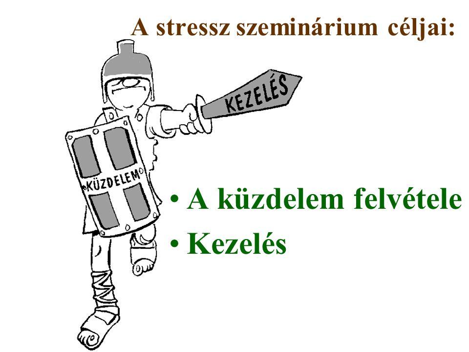 A küzdelem felvétele Kezelés A stressz szeminárium céljai:
