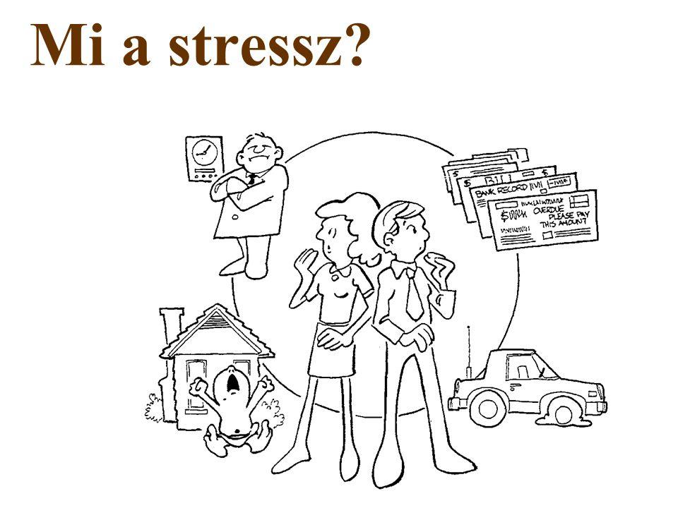 """Mi a stressz? """"A stressz a szervezet nem fajlagos válasza bármely dologra, amely kiváltja azt"""" Selye János"""