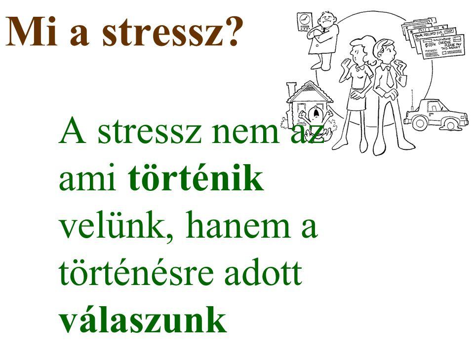 Mi a stressz? A stressz nem az ami történik velünk, hanem a történésre adott válaszunk